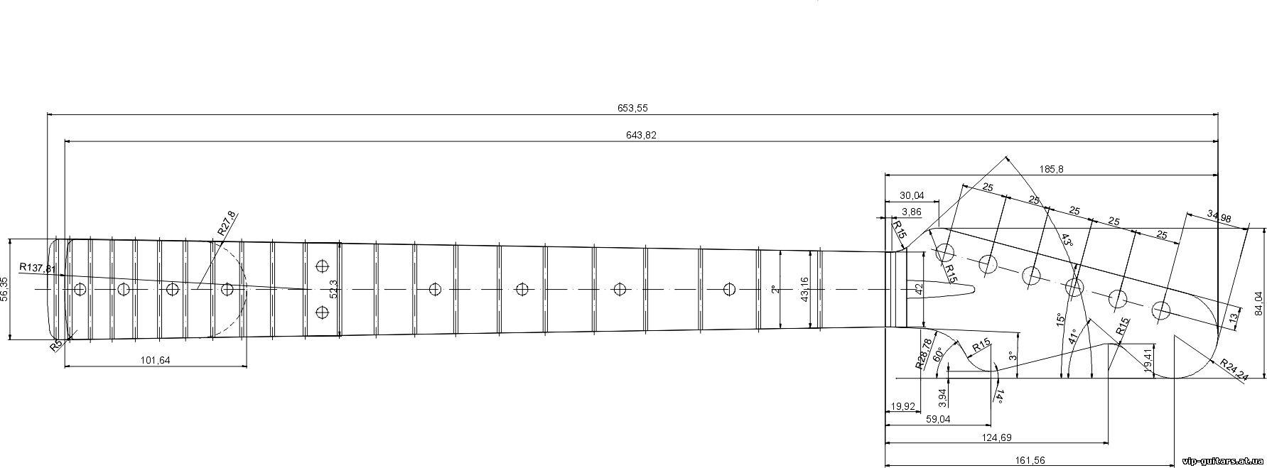 Акустическая гитара своими руками чертежи 63