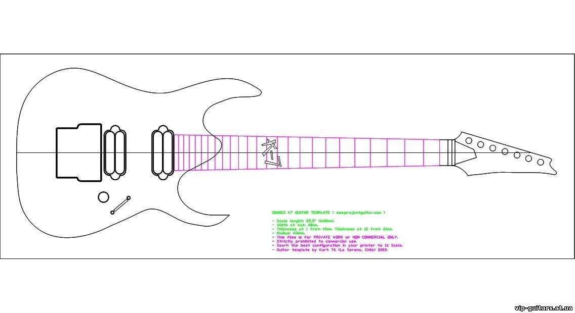Внешний вид гитары явно