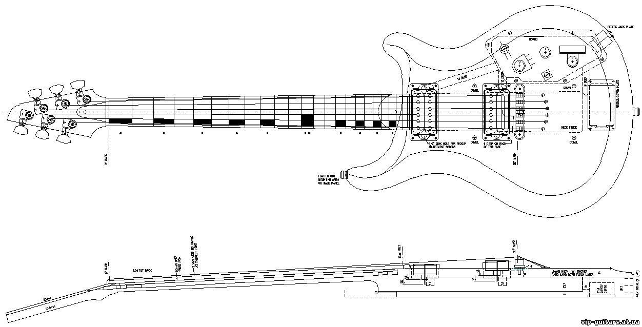 Категория.  Добавил: sevendy (20.02.2010).  Чертежи электрогитар, бас гитар, акустических гитар.